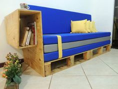 Modern Pallet Sofa #PalletSofa, #Plywood, #RecycledPallet