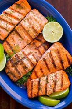 Break out the BBQ for this Grilled Salmon with Garlic Lime Butter and eat like you're on vacation! Go-To Grilled Salmon recipe - it excites your taste buds!