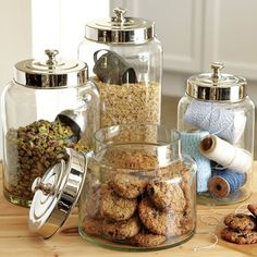 Glass Canisters #williamssonoma