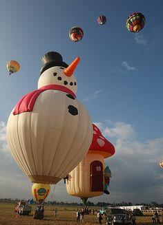 Snowman Hot Air Balloon