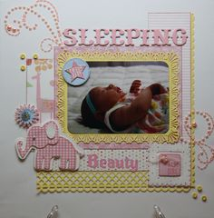 Layout: Sleeping Beauty ---> Something to use my irock for!