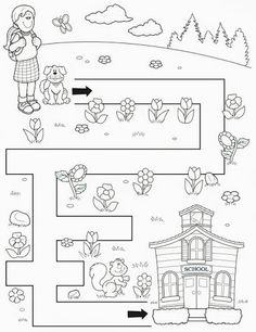 Crafts,Actvities and Worksheets for Preschool,Toddler and Kindergarten.Lots of worksheets and coloring pages. Mazes For Kids Printable, Printable Preschool Worksheets, Kindergarten Worksheets, Worksheets For Kids, Free Printable, Math For Kids, Lessons For Kids, Maze Worksheet, Toddler School