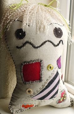 Female Apocalyptic Zombie Stitched Doll with Blond It's freshly made! For a dead girl. Check me out on Etsy.
