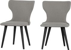 Set of 2 Bjorg Dining Chairs, Manhattan Grey and Black from Made.com. Express delivery. Taking inspiration from the clean lines associated with Scan..