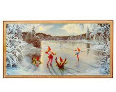 Julbonad SKRIDSKO Bloomsbury, Christmas Pictures, Elves, Gnomes, Scandinavian, Barn, Painting, Beautiful, Magic