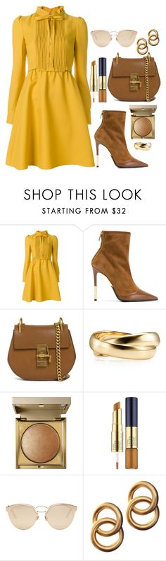 """❤"" by elly-852 ❤ liked on Polyvore featuring Valentino, Balmain, Chloé, Stila, Estée Lauder, Christian Dior and Laura Lombardi"