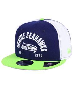 b34bf508594 New Era Seattle Seahawks Establisher 9FIFTY Snapback Cap - Blue Adjustable  Professional Football Teams
