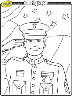 Veterans Day Soldier Coloring Page