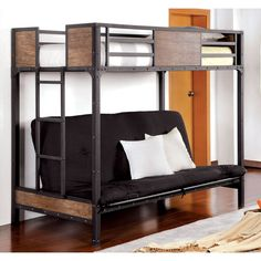 serendipity black lagos twin over futon bunk bed bedroom how to assemble a futon bunk bed metal with futon bunk bed      rh   pinterest