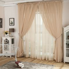 Lace curtains Bedroom - Romantic Champagne Yarn Lace Curtains For Living Room. Luxury Curtains, Rustic Curtains, Lace Curtains, Farmhouse Curtains, Roman Curtains, Short Curtains, Cheap Curtains, Green Curtains, Colorful Curtains