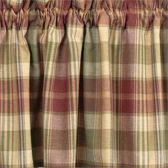 Saffron Unlined Swag Curtains - Primitive Star Quilt Shop - 1