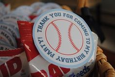 Lots of baseball party ideas