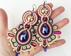 soutache earrings – Etsy