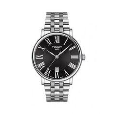 Ανδρικό ελβετικό ρολόι TISSOT CARSON PREMIUM T122.410.11.053.00, με μαύρο καντράν & μπρασελέ | ΤΣΑΛΔΑΡΗΣ στο Χαλάνδρι - Επίσημος συνεργάτης TISSOT #tissot #CARSON #PREMIUM #ρολοι #tsaldaris Tissot T Race, Le Locle, Watch Companies, Chronograph, Omega Watch, Rolex Watches, Bracelet Watch, Gold, Accessories