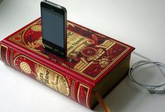 Jules Verne Book Charging Dock for iPhone and iPod  http://www.etsy.com/listing/75763946/jules-verne-book-charging-dock-for  $55