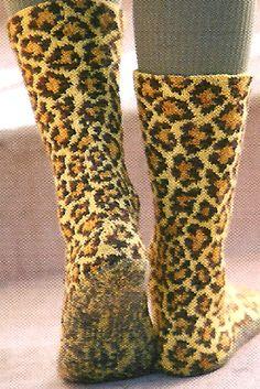 Ravelry: Leopard Spots pattern by Betty Salpekar Knitting Socks, Hand Knitting, Knitted Hats, Knit Socks, Crochet Cross, Knit Crochet, Lots Of Socks, Silly Socks, Leopard Spots