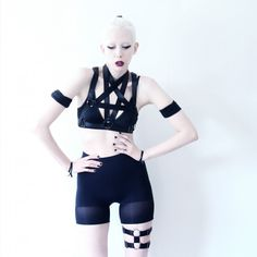 """Jenny Mustards styling our """"PENTAGRAM"""" harness and """"UFO"""" thigh garter now up on…"""