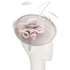 Buy John Lewis Lois Pearl Veil Flower Fascinator, Silver/Blush Online at johnlewis.com