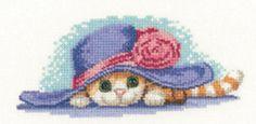 Erfgoed ambachten kat in Hat Cross Stitch Kit uit de