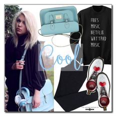 """""""Be cool"""" by leathersatchel ❤ liked on Polyvore featuring Wolford and Dr. Martens"""