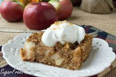 """Apple dumpling cake--grain free. Instead of funky """"sweetners"""" will just use a small amount of maple syrup. Apples are usually sweet enough."""