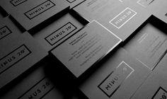 printing black gloss on matte black looks beautiful. #black #business #card