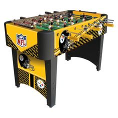 Foosball Table with NFL Pittsburgh Steelers Design - Recreational Room Steelers Football Game, Steelers Stuff, Football Gear, Football Memes, Game Room Tables, Bar Games, Table Games, Man Cave Home Bar, Steeler Nation