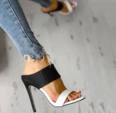 High Heels : Stiletto - Sandals Shoes - Ideas of Sandals Shoes - High Heels : Picture Description Stiletto Stiletto Shoes, High Heels Stilettos, Shoes Heels, High Sandals, Summer Sandals, Heeled Sandals, Black Sandals, Edgy Shoes, Dress Shoes