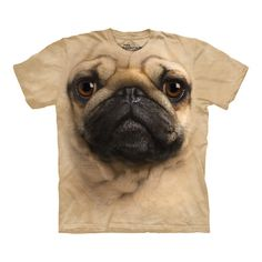 With this top quality t-shirt, now you can finally wear an oversize 3-D pug face. PLEASE SOMEONE BUY ME THIS!!!! ahhaahaha xxx