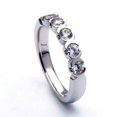 1.50 Carat Diamond Band 5 Diamonds Eternity Wedding  #diamondring #weddingring #diamonds #jewlery #platinum #weddingbands