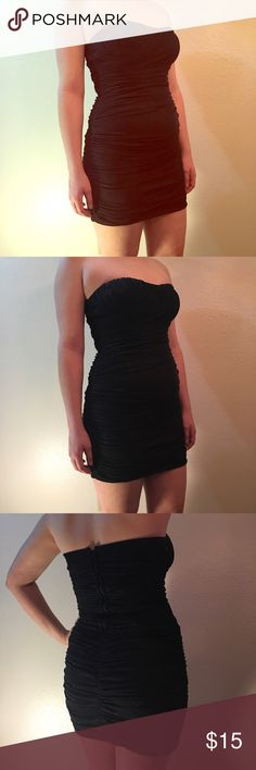 Little Black Sparkly Dress In perfect condition! Make me an offer. Speechless Dresses Strapless