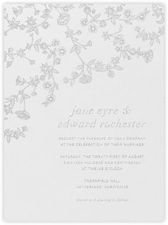 Stitched Floral - Platinum - Paperless Post