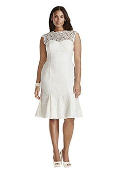Lace Cap Sleeve Plus Size Short Wedding Dress Style 9SDWG0207 Soft White 16W * You can get additional details at the image link.(This is an Amazon affiliate link and I receive a commission for the sales)