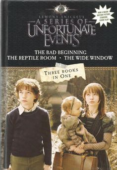 A Series of Unfortunate Events - 3 Books in 1- Bad Beginning, Reptile Room, Wide