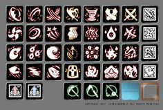 Skill icon by Jo cheolhong on ArtStation. Game Ui Design, Flat Design Icons, Icon Design, Game Gui, Game Icon, Game Props, Pixel Games, Basic Drawing, Glyph Icon