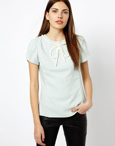 bfb8cbb018c0f5 Ted Baker Blouse with Beaded Bow Detail Ted Baker