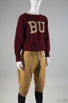 1920 football uniform of wool and cotton duck.  Uniformity  http   exhibitions e55d463cf