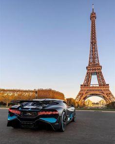 Bugatti - 📷by Dominic Fraser Unique designs are timeless designs. Paris, the city of outstanding architecture becomes the perfect playground for the groundbreaking Luxury Sports Cars, Top Luxury Cars, Bugatti Cars, Lamborghini Cars, Ferrari Car, Rolls Royce, Aston Martin, Maserati, Sport Cars