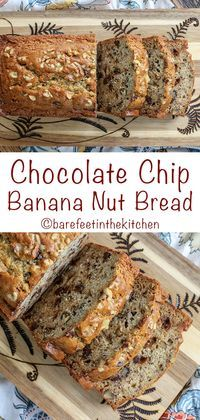 Nothing beats a warm slice of chocolate chip banana nut bread! get the recipe at barefeetinthekitc. Banana Nut Chocolate Chip Bread Recipe, Banana Walnut Bread, Chocolate Chip Recipes, Banana Bread Recipes, Beats, Warm, Cowgirl Boots, Western Boots, Riding Boots