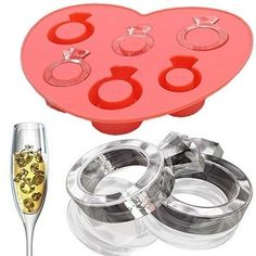 Automatically save 10% when you buy 2-3 off any combination of ice cube trays or reusable ice cubes. Save 20% when you buy 4 or more. Discount displayed in shopping cart. Diamond Ring Ice Cube Tray Show people you care with a diamond ring of ice! Use this flexible silicone tray to make unique Diamond Ring Ice Cubes. The Diamond Ring Ice Cube Tray makes six (6) ice pieces. Diamond Ring Ice Cube Tray: Makes six (6) ring shaped ice cubes For easy cube removal quickly run warm water over back of…