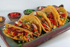 Step 5 - The finished tacos Sweet Potato, Fries, Tacos, Baking, Ethnic Recipes, Food, Bakken, Essen, Meals