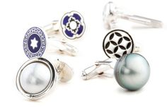 Cool cufflinks anyway you want them - pearls, diamonds, enamel, letters - a great gift idea for Fathers Day..... #rohanjewellery #rohanmilne #leederville #handcraftedjewellery enquiries@rohanjewellery.com Gemstone Colors, Handcrafted Jewelry, Fathers Day, Great Gifts, Cufflinks, Diamonds, Enamel, Stud Earrings, Letters