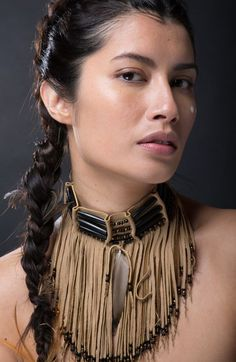 She has a story to tell and no time for bullshit. Native American Model