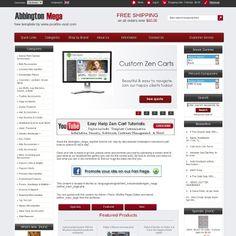 Abbington Mega Free Zen Cart Template Custom Ecommerce Website Design Templates