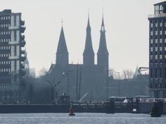 Dutch spires. Amsterdam