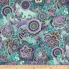 Or maybe teal accents??? LOVE THIS!!!!   Fortissimo Metallic Medallion Peacock