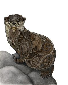 """""""Otter"""" by Zanna Field Print available at"""