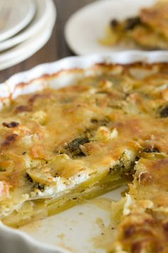 Pesto and Goat Cheese Gratin | gluten free, vegetarian #glutenfree #vegetarian