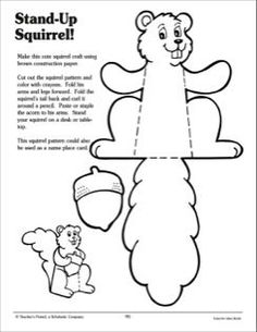 Stand-Up Squirrel: Craft Activity