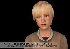 500 FOLLOWERS GIFT - PART 1 OF 5 - First we have Skysims male hair 05 retextured | lilith-sims